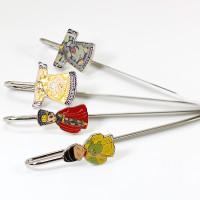 中国古代传统礼物工艺书签 皇上皇后龙袍金属书签 送老外出国礼物