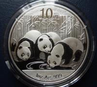 2013年熊猫金银币 2013年熊猫银币1盎司 2013年熊猫1盎司银币保真