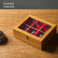 红茶礼品包装盒 茶叶包装盒定做 实木茶叶盒印刷包装 竹制礼盒定制