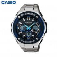 卡西欧G-SHOCK GST-W100D-1A2太阳能防震防水运动男士电波表
