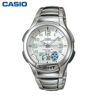 卡西欧手表 AQ-180WD  男士防水时尚男表指针数字双显商务石英表