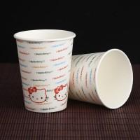商家直销精美环保彩印小号通用一次性家用广告礼品纸杯