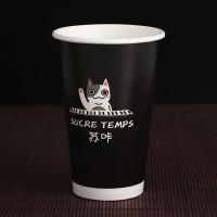 定制一次性单淋膜奶茶纸杯批发通用咖啡 奶茶杯定做5000只起订
