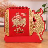2021牛年台历定制中国ins风日历工作打卡计划本公司企业印刷礼品
