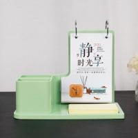 绿色立体印刷创意记事台历小清新桌面摆件台历撕历可定制logo