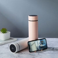 厂家直销 保温杯 智能测温新款支架不锈钢杯子定制触控智能保温杯
