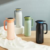 智能保温水壶大容量家用不锈钢真空简约热水暖壶按压式便携开水瓶
